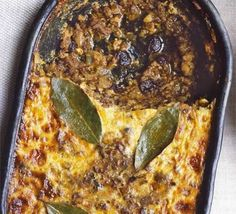 Bobotie- a South African curry casserole made with beef. Fills the role there that meatloaf does in America. LOVE this stuff, comfort food.