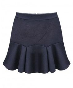 Pure Color Chiffon Skirt With Flouncing Hem