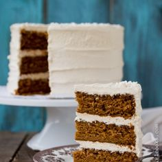 Holiday Spice Cake with Eggnog Buttercream