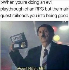 I don't do evil playthroughs, but I have friends who do and this is 100% accurate.