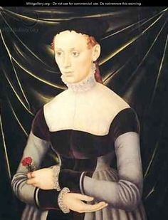 Woman with a Carnation - Lucas The Elder Cranach