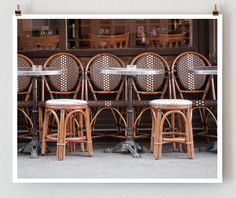Paris Cafe Chairs