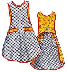 Busy Bias Apron Pattern-Busy Bias, apron pattern, aprons, patterns, apron, vintage, retro, paisley pincushion, paisly, pull-