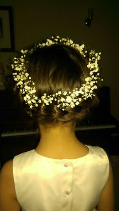 First Holy Communion hairstyle