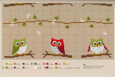 halloween craft ideas: embroidered picture, owl cross stitch kits - crafts ideas - crafts for kids