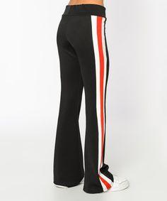 Bambina Mia Black Stripe Sweatpants - Women | zulily