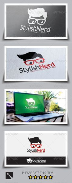 Stylish Nerd Logo Template — Vector EPS #creativity #enthusiast • Available here → https://graphicriver.net/item/stylish-nerd-logo-template/8748694?ref=pxcr