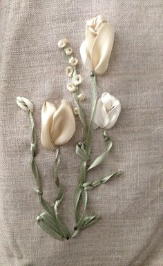 Silk Ribbon Embroidery Practice Flowers by cegiles853292571