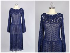 1930s Dress / Fabulous Navy Rayon Knit Dress by TheVintageNet on Etsy https://www.etsy.com/listing/253792892/1930s-dress-fabulous-navy-rayon-knit