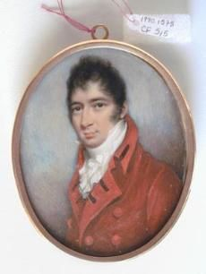 A Gentleman  Late 18th/Early 19th century  Portrait miniature - watercolor on ivory  Artist: Nathaniel Freese (English, b.1794 d.1814)  Cincinnati Museum of Art