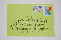 """Calligraphy - Hand Lettering on Your Envelopes """"tracy"""""""