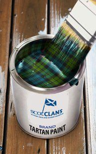 Tartan Paint! On the same shelf as two-headed nails and those long stands you were told to ask for.