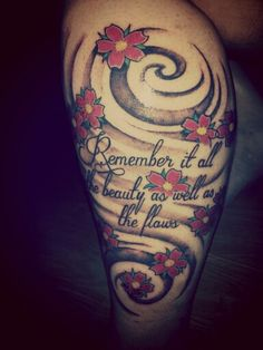 Cherry Blossom & Atmosphere lyric tattoo. Tattoo for Gaddy<3