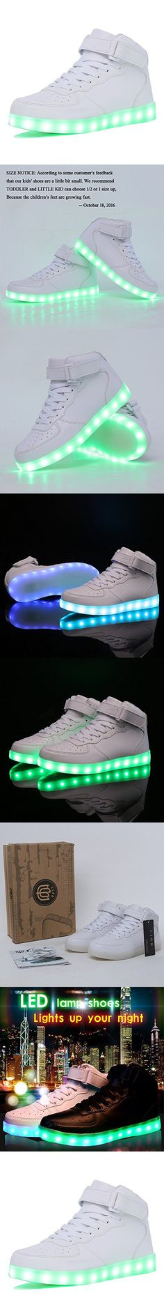 CIOR Kids Boy and Girl's High Top Led Sneakers Light Up Flashing Shoes(Toddler/Little Kid/Big Kid),101C,02,36
