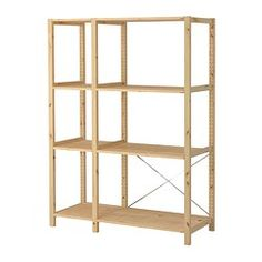 IKEA - IVAR, 2 sections/shelves, Untreated solid pine is a durable natural material that can be painted, oiled or stained according to preference.You can move shelves and adapt spacing to suit your needs.