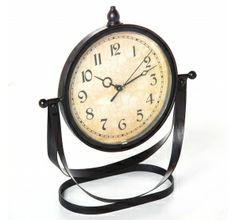 Horloge à poser vintage en métal avec cadran orientable 15,59 € sur www.ac-deco.com