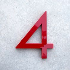 Modern House Number Aluminum Modern Font Number by moderndwell, $33.99