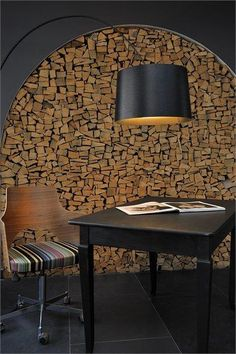 The Cambrian - Member of Design Hotels™ - Adelboden, Switzerland - 2007 - Peter Silling & Associates . a well stocked house. Timber Walls, Home Trends, Fireplace Design, Wall Treatments, Rustic Design, Interior Design Inspiration, Interior Architecture, Living Spaces, Furniture Design