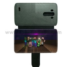 LG G3 cover made by leather with card hold Design With UK7 minecraft