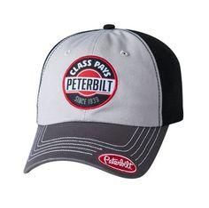 55fdb2c2946 Peterbilt Hats - Peterbilt Caps - Peterbilt Motors Class Pays Patch  Charcoal Caps Semi Truck Accessories