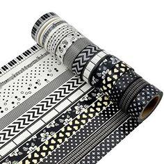 AUFODARA Washi Tape 5pcs Set - tamaño de cada rollo de 15 mm x 10 m