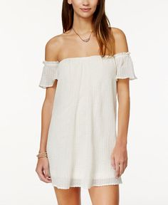 O'Neill Juniors' Dutch Off-the-Shoulder Dress
