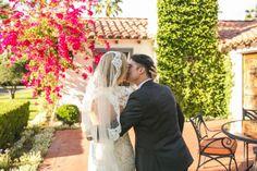 JENNIFER & TYLER'S PALM SPRINGS PRIVATE ESTATE WEDDING Hair by www.sheilarayestone.com Classic Mantilla Veil