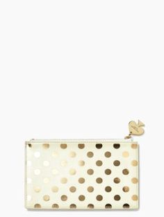 GOLD DOTS PENCIL POUCH $30.00