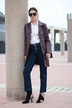 Patchwork      Posted by fashionvibe     On November 16, 2015 | Coat: Zara // Jeans: Mango // Boots: Gianvito Rossi // Sunglasses: Celine // Bag: Saint Laurent // Shirt: Sheinside