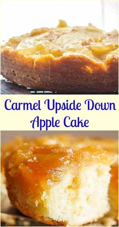 An Easy Caramel Upside Down Apple Cake, a fast and delicious Fall Dessert recipe., An Easy Caramel Upside Down Apple Cake, a fast and delicious Fall Dessert recipe, brown sugar and cinnamon make this the ultimate Apple Cake. Desserts Keto, Apple Dessert Recipes, Brownie Desserts, Mini Desserts, Just Desserts, Fast And Easy Desserts, Easy Apple Desserts, Autumn Desserts, Easy Apple Cake