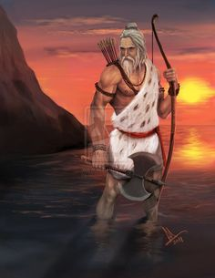 illustrations of Indian gods that will blow away your mind - Parashurama