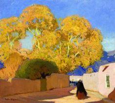 Canyon Drive, Santa Fe - Victor Higgins - The Athenaeum