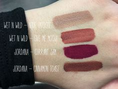 A few new drugstore liquid lipstick swatches on cool olive skin. [x-posted in /r/DrugstoreMUA]