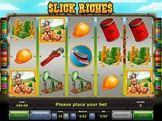 Slick Riches - игровой автомат на деньги.  Игровой автомат Slick Riches с выводом– настоящее открытие для игроков, стремящихся стать нефтяными магнатами, купающимися в роскоши, разбрасывающими деньги во все стороны. Здесь простой интерфейс, соседствующий с множеством доп�