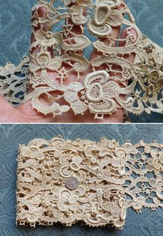 1800s French Antique Lace Stunning Schiffli by AntiqueDelights
