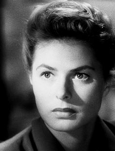 """Ingrid in """"Spellbound"""". I love this old film! Classic Hollywood!"""