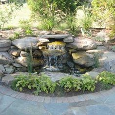 Beautiful backyard pond idea :)