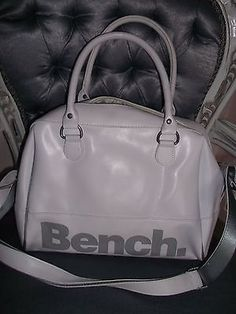 Bench - white pu #large bowling bag - twin #straps, zip #fastener,  View more on the LINK: http://www.zeppy.io/product/gb/2/222242682565/