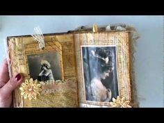 YouTube...Vintage altered book. Great inspiration for other themes, but this one was done with romantic Victorian lady pictures.