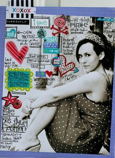 I so wish I could write on a layout like this. I have got to practice! Elsie is awesome.