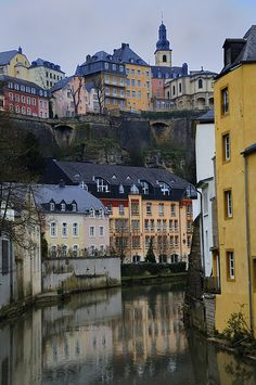 Grund, Luxembourg (by mhodges, via Flickr)    Grund - Luxembourg City, Luxembourg: Area known as Grund that lies beneath the chemin de la Corniche - it has a number of antique houses in the river valley below Luxembourg's old town.