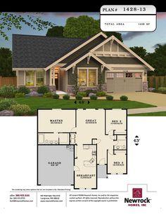 Plan #1428-13 - Newrock Homes