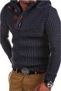 Tazzio – 14-413 – Pull-over en tricot à col brandebourg