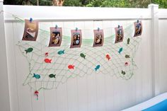 First Year Photo Banner from a Gone Fishing Birthday Party via Kara's Party Ideas | KarasPartyIdeas.com (8)