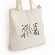 New to DesignGenesStudio on Etsy: Game thrones tote bag I will take what is mine fire and blood Game of Thrones gift GOT fan gift Daenerys Targaryen quote gift for her (17.50 USD) #greetingcards #mugs #gifts