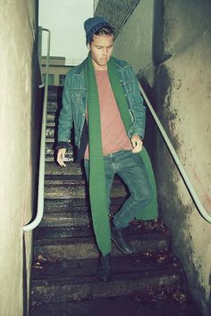 Andreas Wijk - Versace Hat, Levi's® Denim Jacket, The Local Firm Jeans - Another Christmas.
