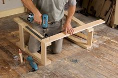 Anyone with a circular saw and power drill can build these versatile sawhorses [fw] Woodworking Bench Plans, Beginner Woodworking Projects, Wood Plans, Woodworking Workshop, Fine Woodworking, Sawhorse Plans, Scandinavian Benches, 2x2 Wood, Easy Wood Projects