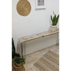 Beautiful reclaimed timber LÜPS Entryway table from our EKO range. Each item in this range is made from our unique reclaimed timber beams giving it a simple and high quality Scandinavian look. Thanks to the character of reclaimed timber each product will look completely unique, which means no one else will have one jus