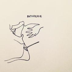 Pastry cocking #drawing #draw #dessin #doodle #sketch #sketching #illustration #graphic #eroticdrawing #eroticart #luxure #érotisme #érotique #ink #love #hot #minimal #line #artwork #art...
