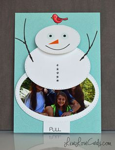 Snowman Waterfall Card, with video!